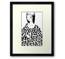 Calligraphic Framed Print