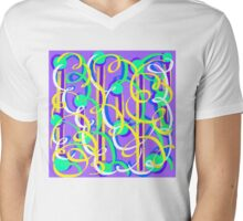 Party Streamers on purple Mens V-Neck T-Shirt