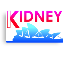 Kidney (Tropical Style) Canvas Print