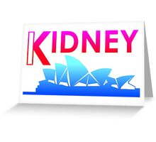 Kidney (Tropical Style) Greeting Card
