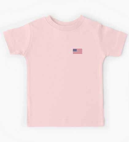 American Mini Skirt - USA Flag Kids Tee