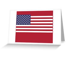 American Mini Skirt - USA Flag Greeting Card