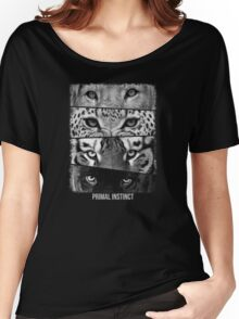 Primal Instinct - with text jgr  Women's Relaxed Fit T-Shirt