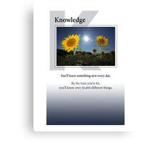 Knowledge Canvas Print