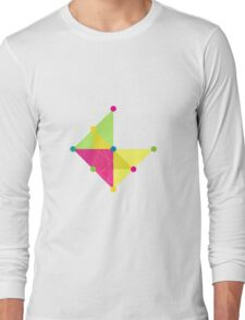 'Symmetrical' Diamond  Long Sleeve T-Shirt