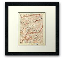 USGS TOPO Map California CA Big Trees 299220 1901 125000 geo Framed Print