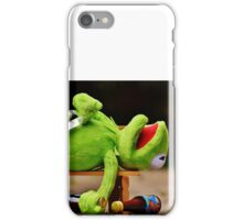 drunk Kermit  iPhone Case/Skin