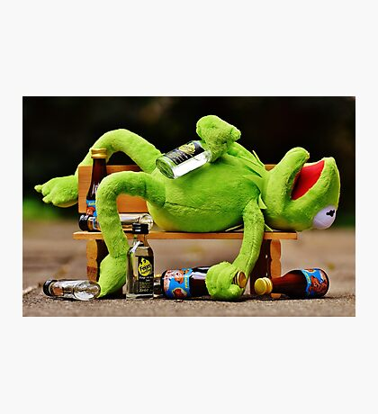 drunk Kermit  Photographic Print
