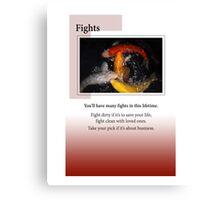 Fights Canvas Print
