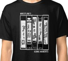 Wrestling's Iconic Moments Through VHS Tapes Classic T-Shirt