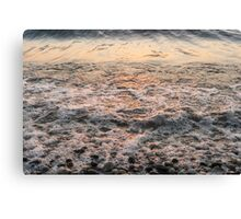 Bubbles in Motion - Whimsical Patterns in the Surf at Sunrise Canvas Print