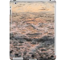 Bubbles in Motion - Whimsical Patterns in the Surf at Sunrise iPad Case/Skin