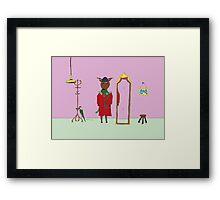 Diego the Deer in Winter Framed Print