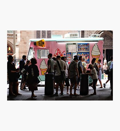 Ice cream truck Photographic Print