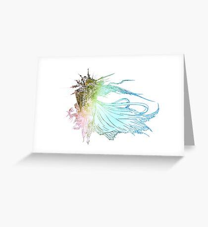 °FINAL FANTASY° Final Fantasy XV Rainbow Logo Greeting Card