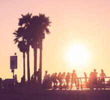 Sunset at Venice Beach Sticker