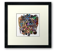 Clash royale and of clans family Framed Print
