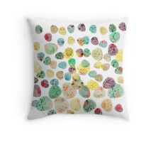 Colorful Fossils in Stones Throw Pillow