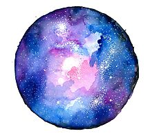 Watercolor Galaxy Photographic Print