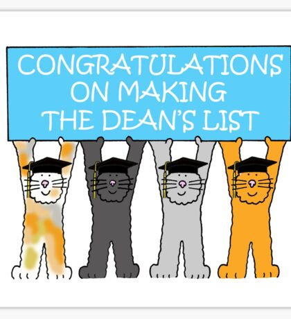 Congratulations on making the Deans List Sticker