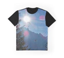 Beautiful nature mountains paragliders Graphic T-Shirt