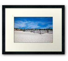 Bridgehampton Beach - Fences Framed Print