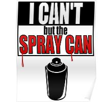 Spray Can (red & black) Poster