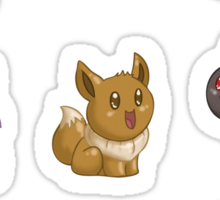 Teenies - Eeveelutions! Sticker