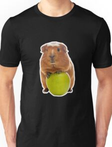 guinea pig and the green apple Unisex T-Shirt