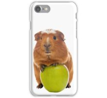 guinea pig and the green apple iPhone Case/Skin