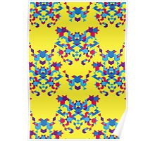Abstract geometric pattern yellow Poster
