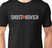 Shostakovich, for dark backgrounds Unisex T-Shirt