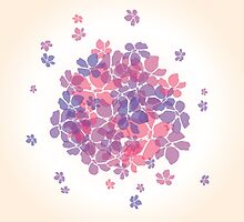 Abstract background with flowers by BlueLela