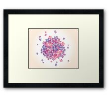 Abstract background with flowers Framed Print