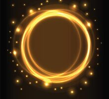 Abstract background, yellow glowing circles by BlueLela