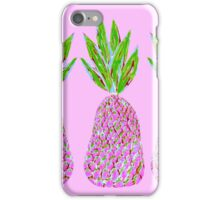 Pineapple Crush on pale pink iPhone Case/Skin