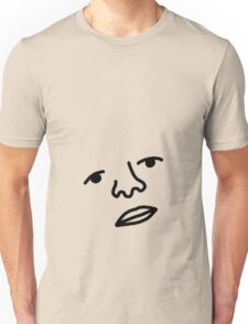 Face of Your Stomach (closed) Unisex T-Shirt