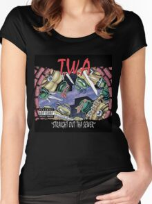 Teenage Mutant Ninja Turtles - T.W.A - Straight Out Tha Sewer Women's Fitted Scoop T-Shirt