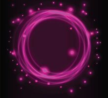 Abstract background, pink glowing circles by BlueLela