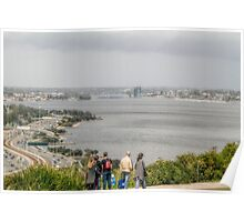 South Perth from King's Park, Western Australia Poster