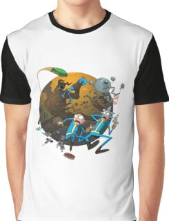 Rick And Morty Fallout Graphic T-Shirt