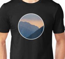 Beautiful nature mountains sunset circle Unisex T-Shirt
