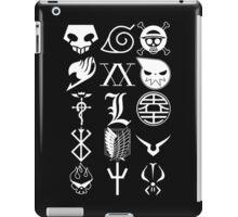 Anime Logos White iPad Case/Skin