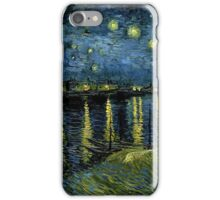 Starry Night Over the Rhone iPhone Case/Skin
