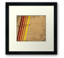 Abstract grungy background Framed Print