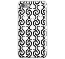 White and black pattern iPhone Case/Skin