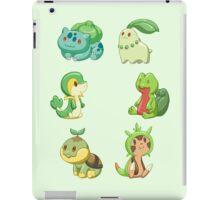 Pokemon Starters - Grass Types iPad Case/Skin