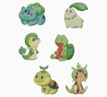 Pokemon Starters - Grass Types by TipsyKipsy