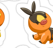 Pokemon Starters - Fire Types Sticker