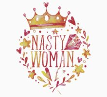 nasty woman crown Kids Tee